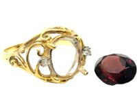 石がとれた指輪